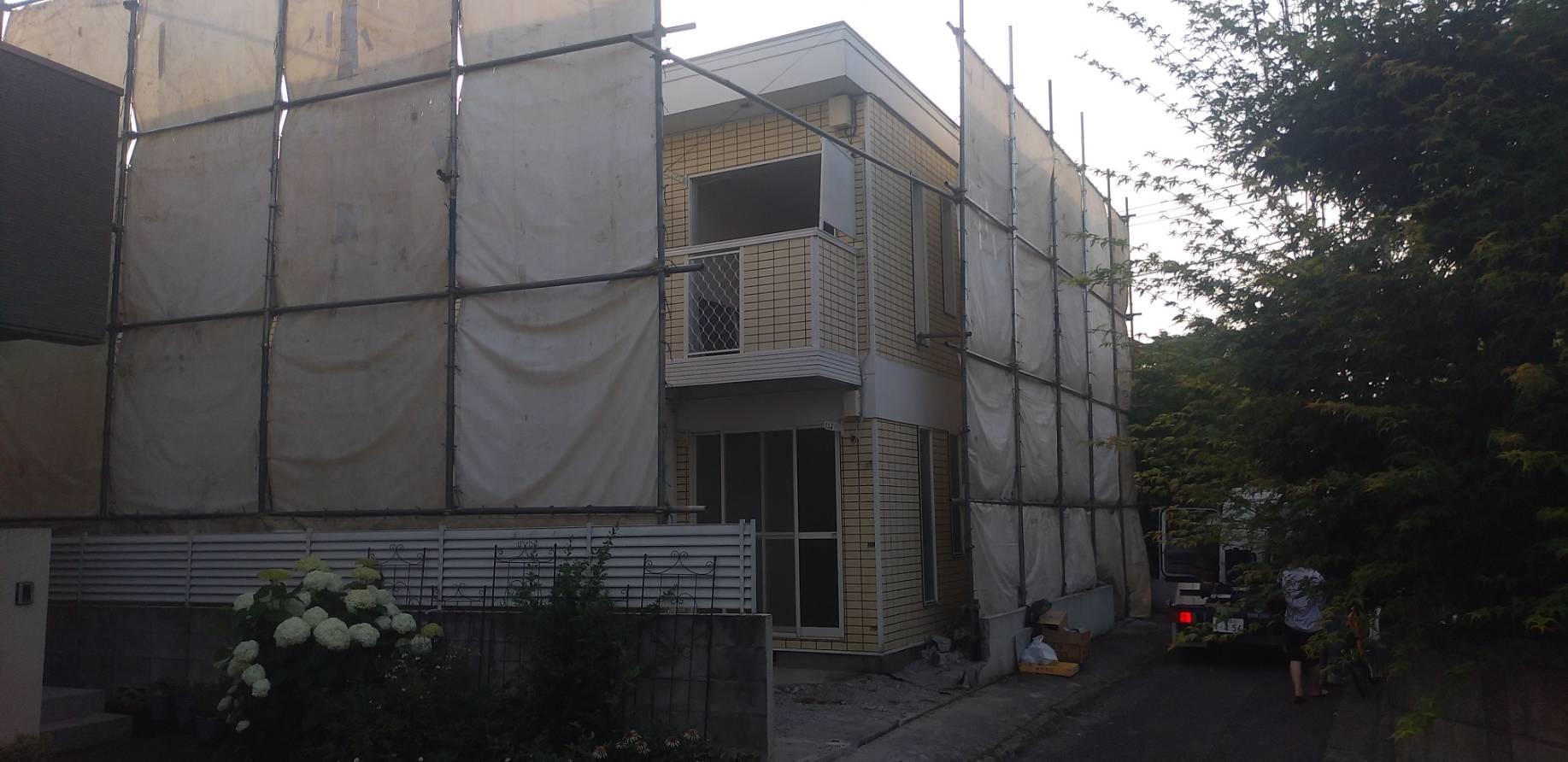 杉並区和泉 鉄骨アパート解体工事