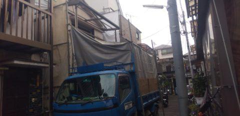 大田区大森西で木造2階建て解体工事を行わせていただきました。